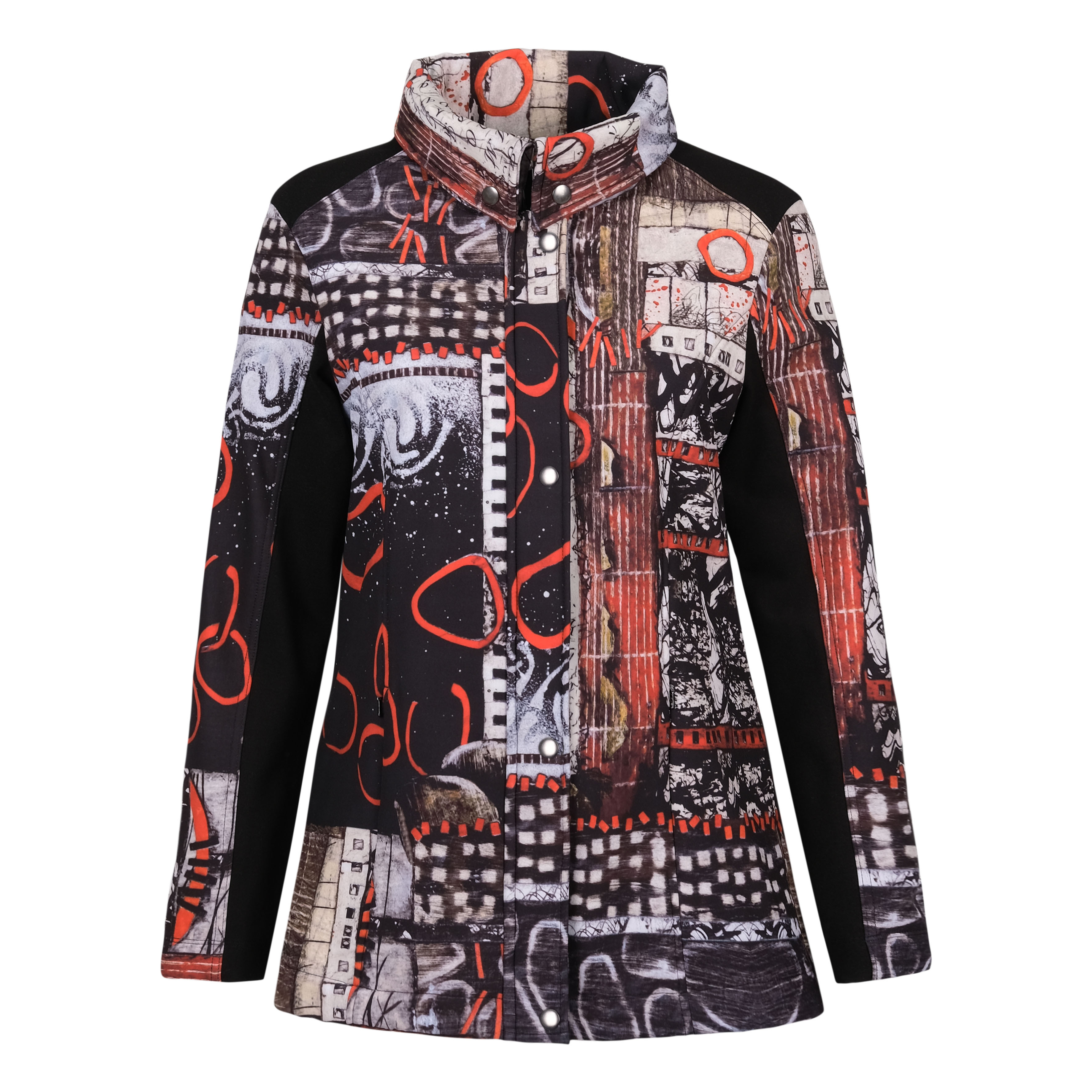 Simply Art Dolcezza: Rising Up In Color Soft Shell Flared Art Coat (1 Available at Special Price!)