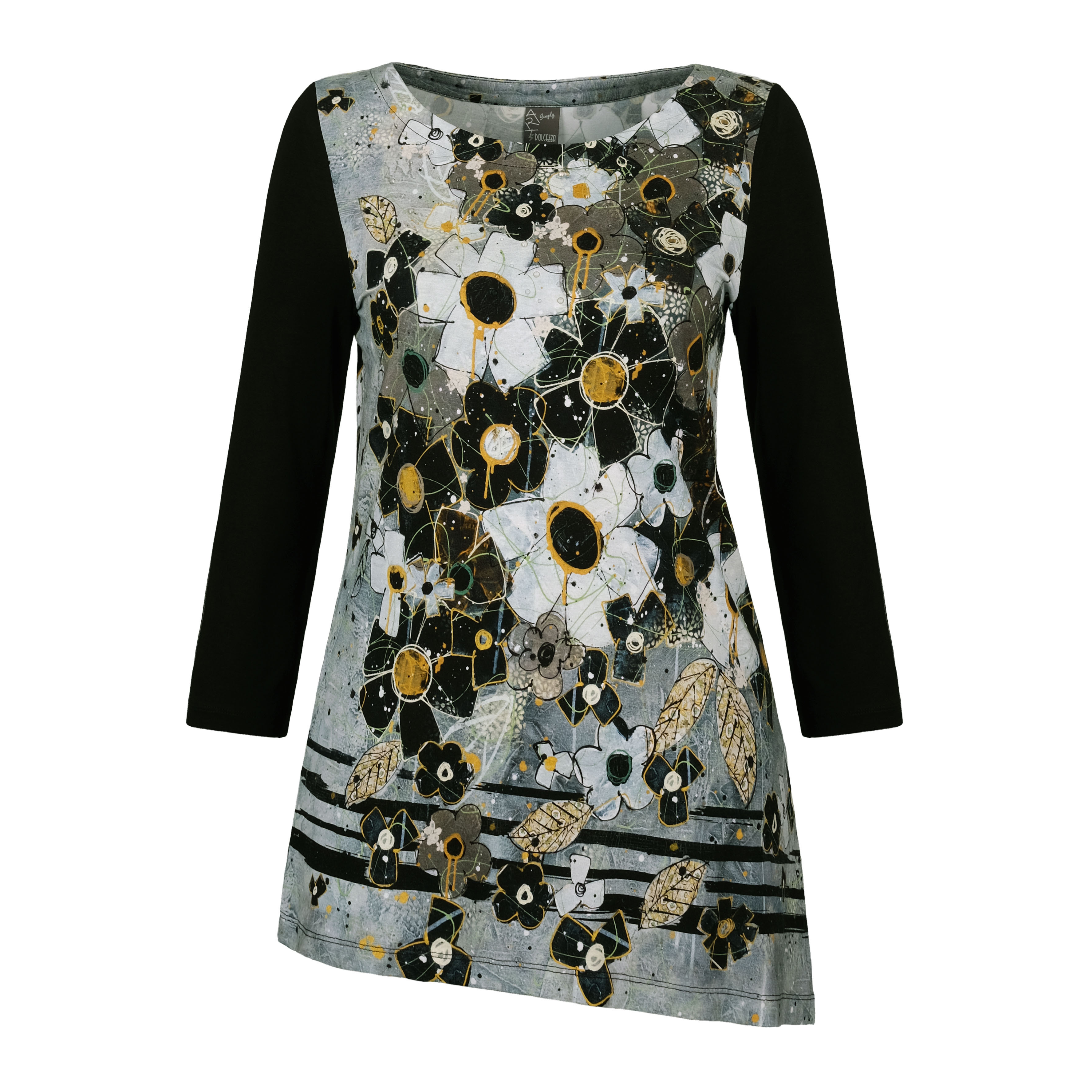 Simply Art Dolcezza: I Am Taking You Home Tonight Abstract Art Asymmetrical Tunic (1 Available at Special Price!) Dolcezza_SimplyArt_70605