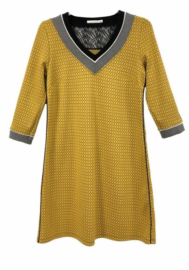 Maloka: My little Saffron Jacquard Dress/Tunic