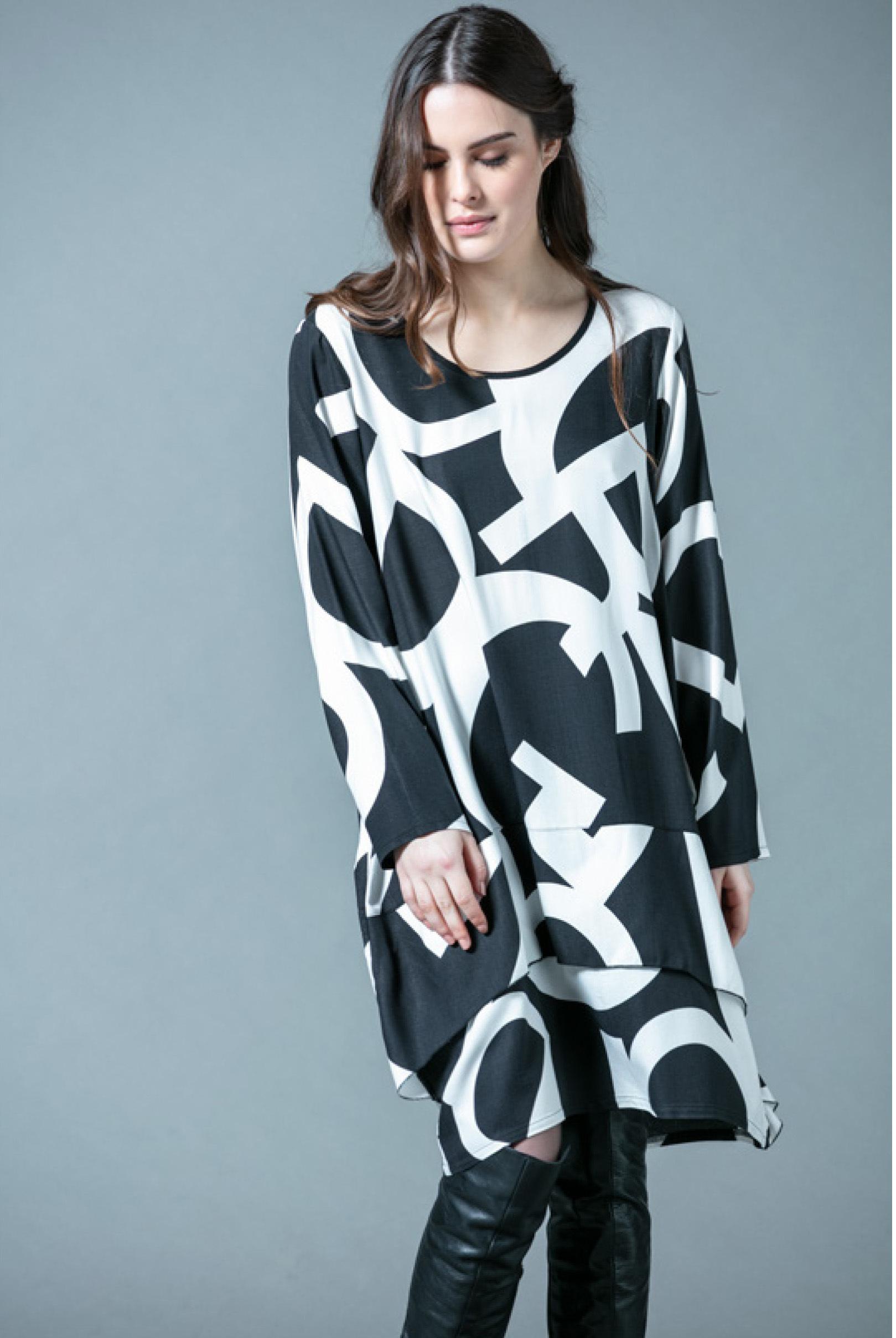 G!oze: Wear Me A Letter Asymmetrical Midi Dress G_ECUSSON