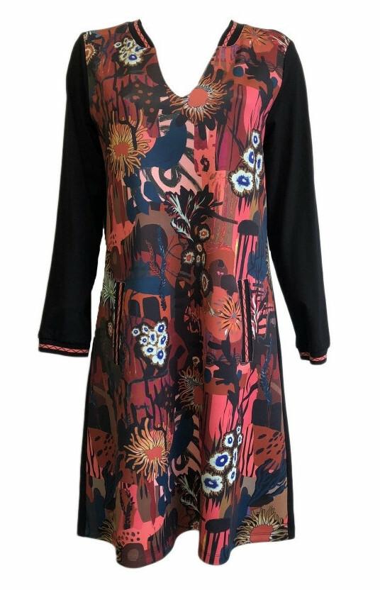 Maloka: Sedona Rock Abstract Art Mixed Media Dress