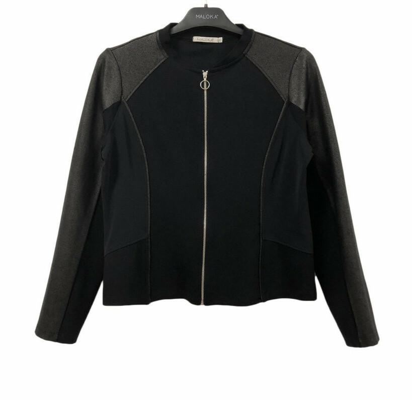 Maloka: Black On Black Vegan Leather Ponte De Roma Jacket (More Colors!)
