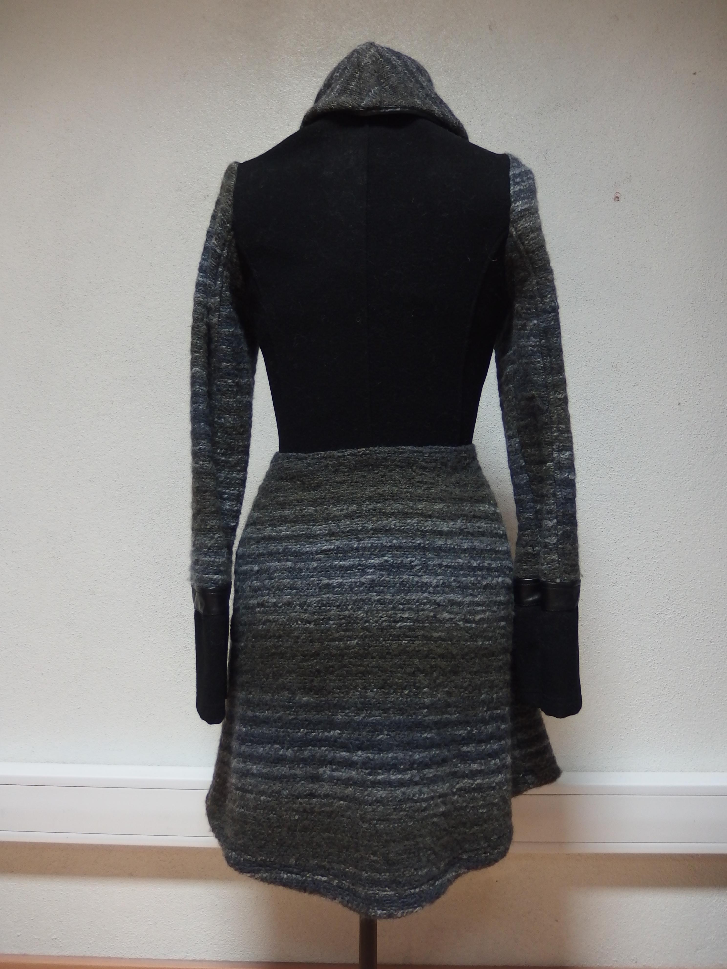 Maloka: Bacari Fleece & Wool Coat