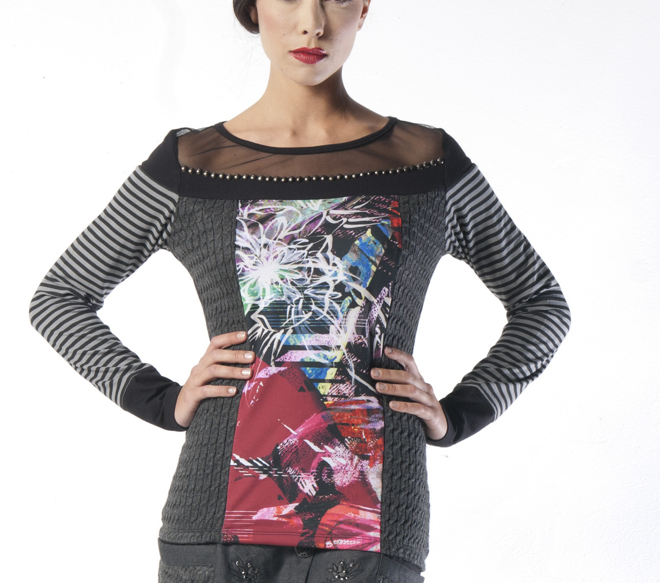 Les Fees Du Vent Couture: Color Intrigue Sweater (Almost Gone!) LFDV_887406_N