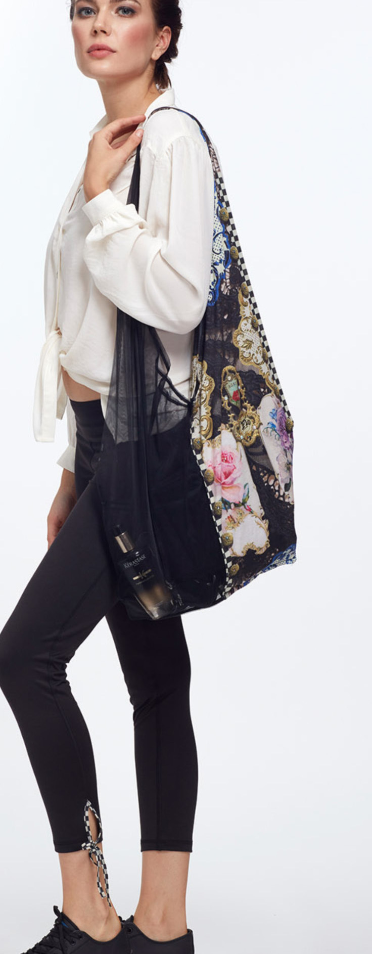 IPNG: Rosette Illusion Large Tote Bag With Tulle Compartment (More Colors!)