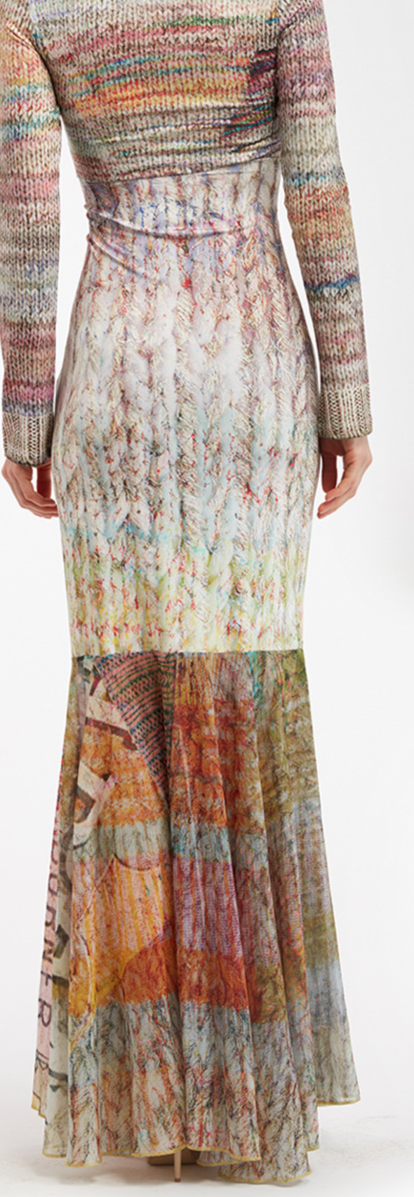 IPNG: Knit Illusion Grand Familia Long Ruffled Skirt (Some Ship Immed!)