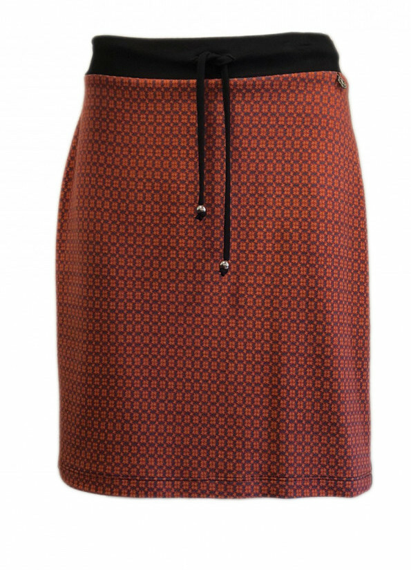 Maloka: Sedona Rock Jacquard Contrast Short Skirt MK_FABIEN