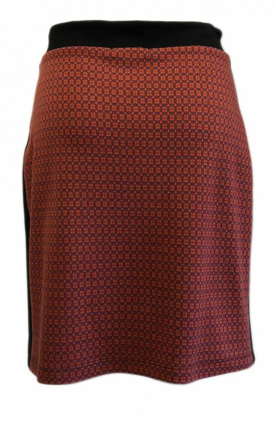 Maloka: Sedona Rock Jacquard Contrast Short Skirt