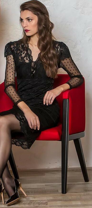 Paul Brial: My Sexy Little Black Lace Dress (1 Left!) PB_FADO
