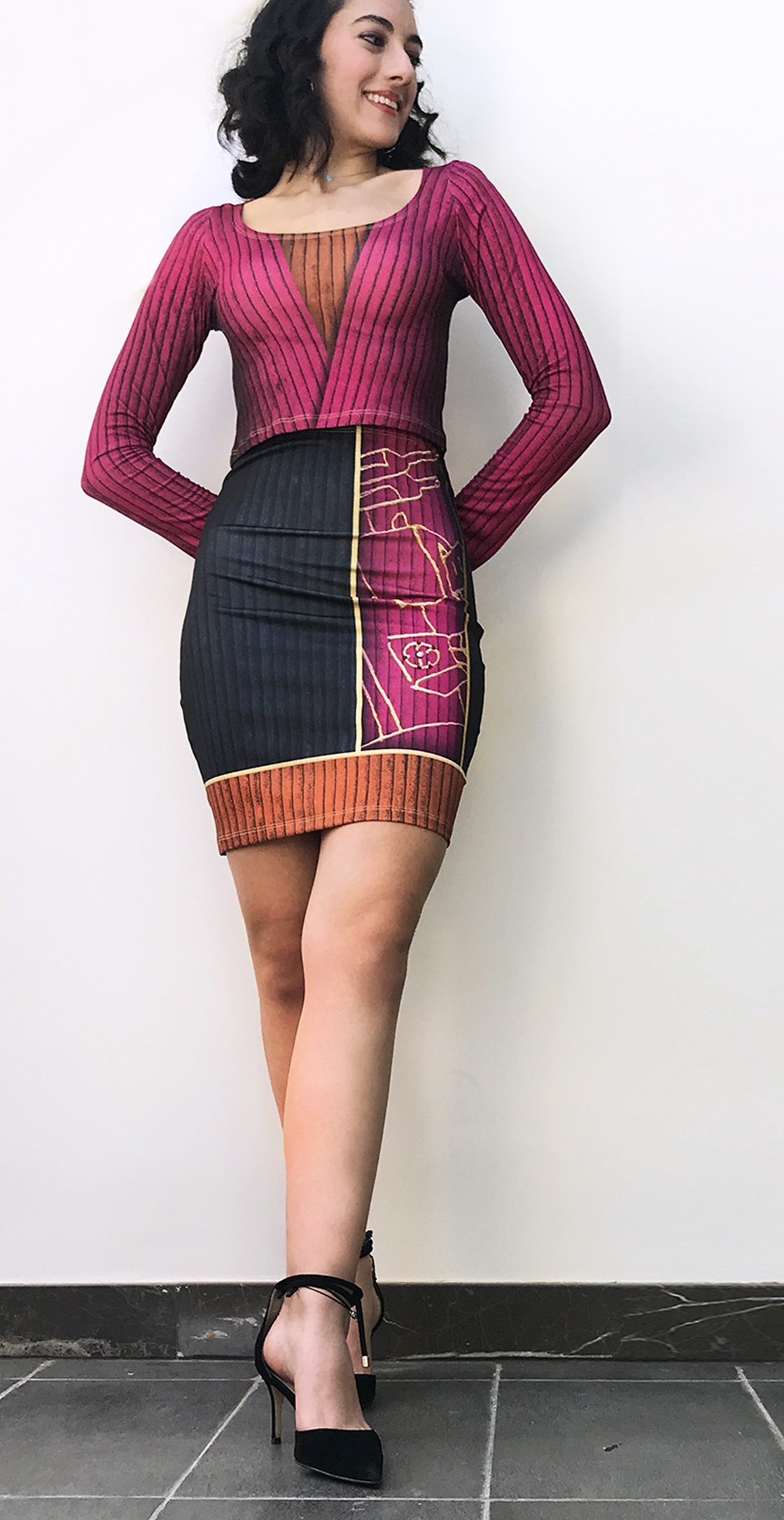 IPNG: Sliding Rooms Illusion Mini Skirt (Some Ship Immed!)