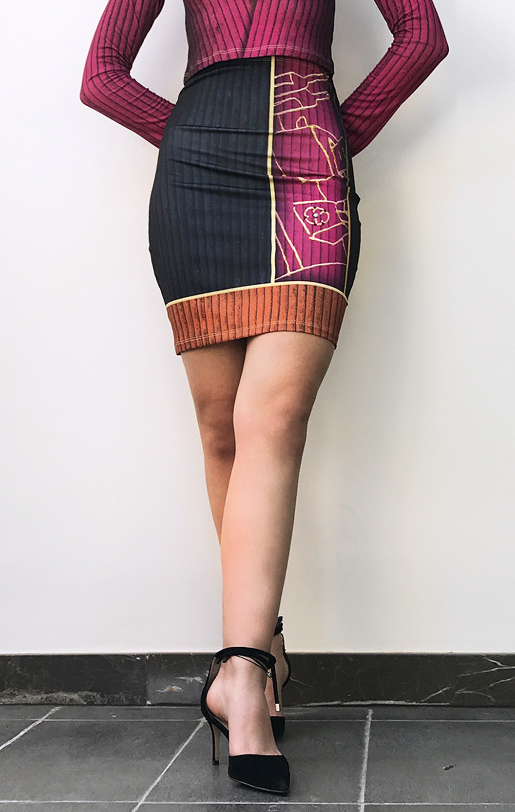 IPNG: Sliding Rooms Illusion Mini Skirt (Some Ship Immed!) IPNG_SRSKM-099