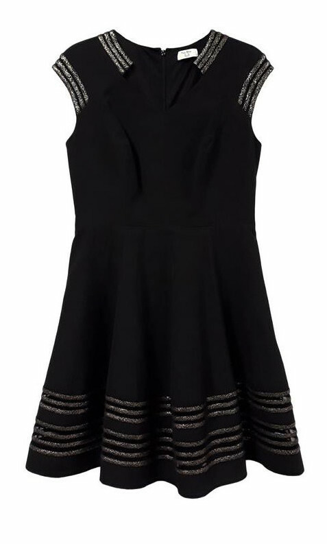 Paul Brial: Glitter Detail Fit & Flare Cocktail Dress