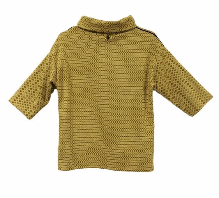 Maloka: Sedona Rock Saffron Jacquard Contrast Sweater