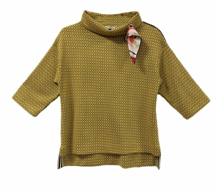 Maloka: Sedona Rock Saffron Jacquard Contrast Sweater MK_FRANCOISE