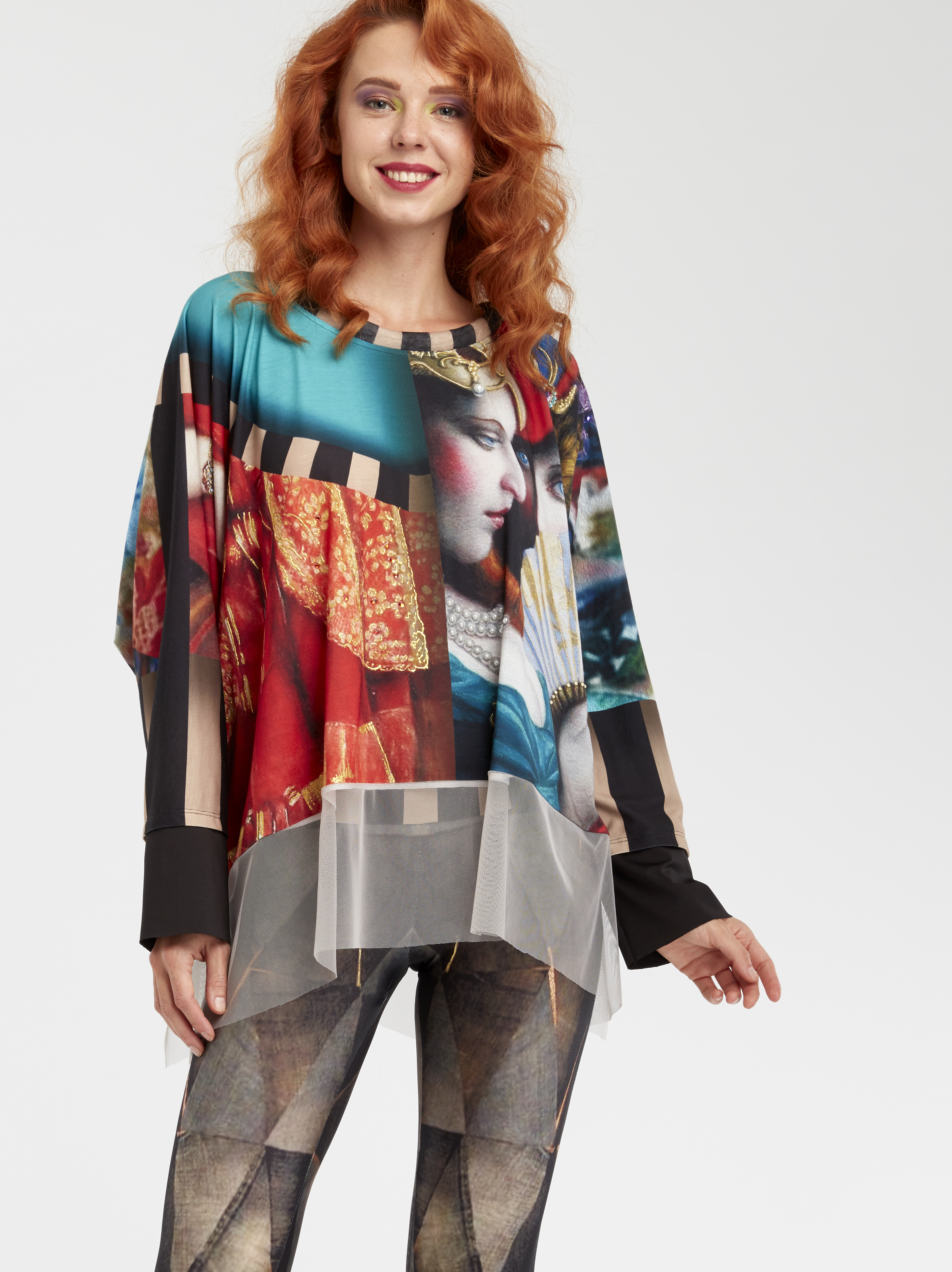 IPNG: Who Is The Woman Behind This Asymmetrical Shawl Blouse Tunic IPNG_WISB-014