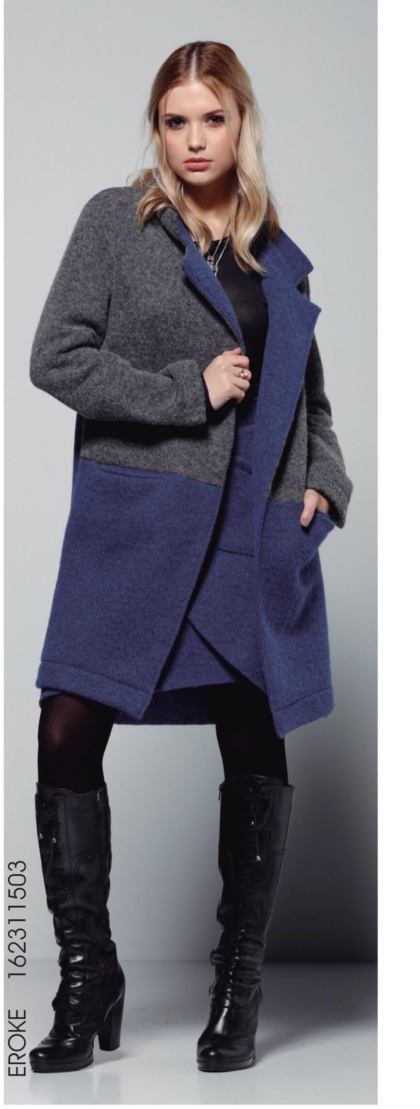 Maloka: Double Color Crushed Wool Teddy Coat (1 Left!) MK_EROKE_N