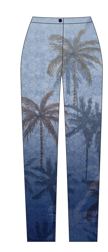 Paul Brial: Palm Tree Printed Soft Denim Jeans SOLD OUT