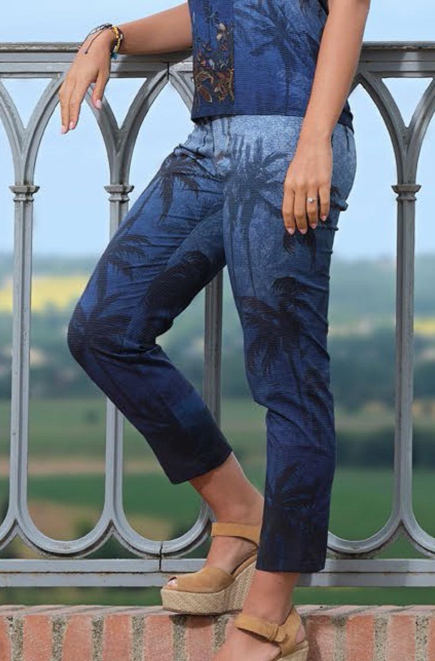 Paul Brial: Palm Tree Printed Soft Denim Jeans (2 Left!) PB_TREKKING
