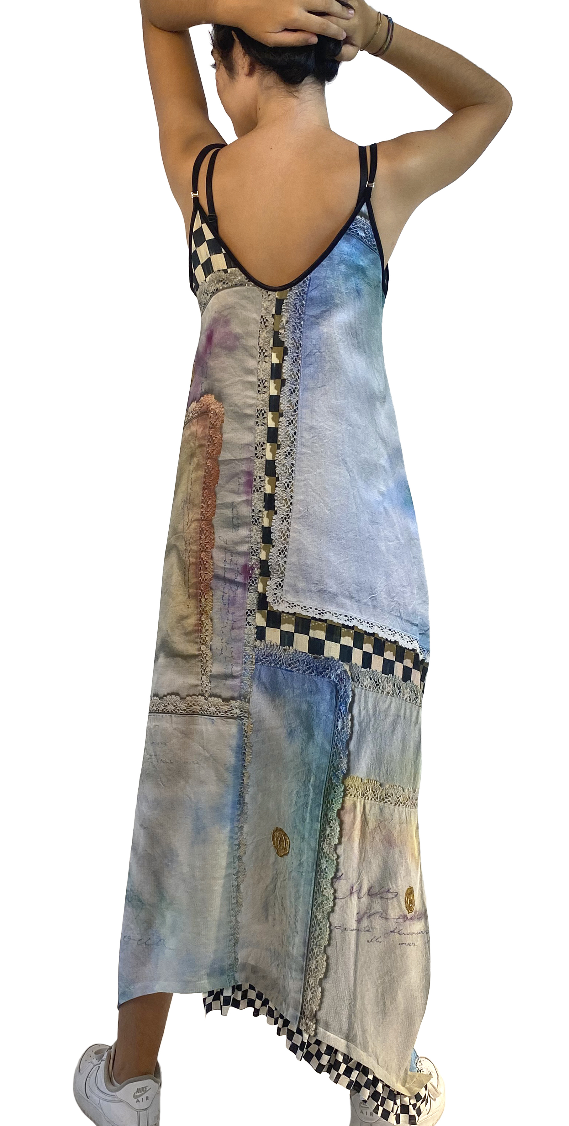 IPNG: Never Enough Color Orchid Illusion V-Cut Maxi Dress (Some Ship Immed!)