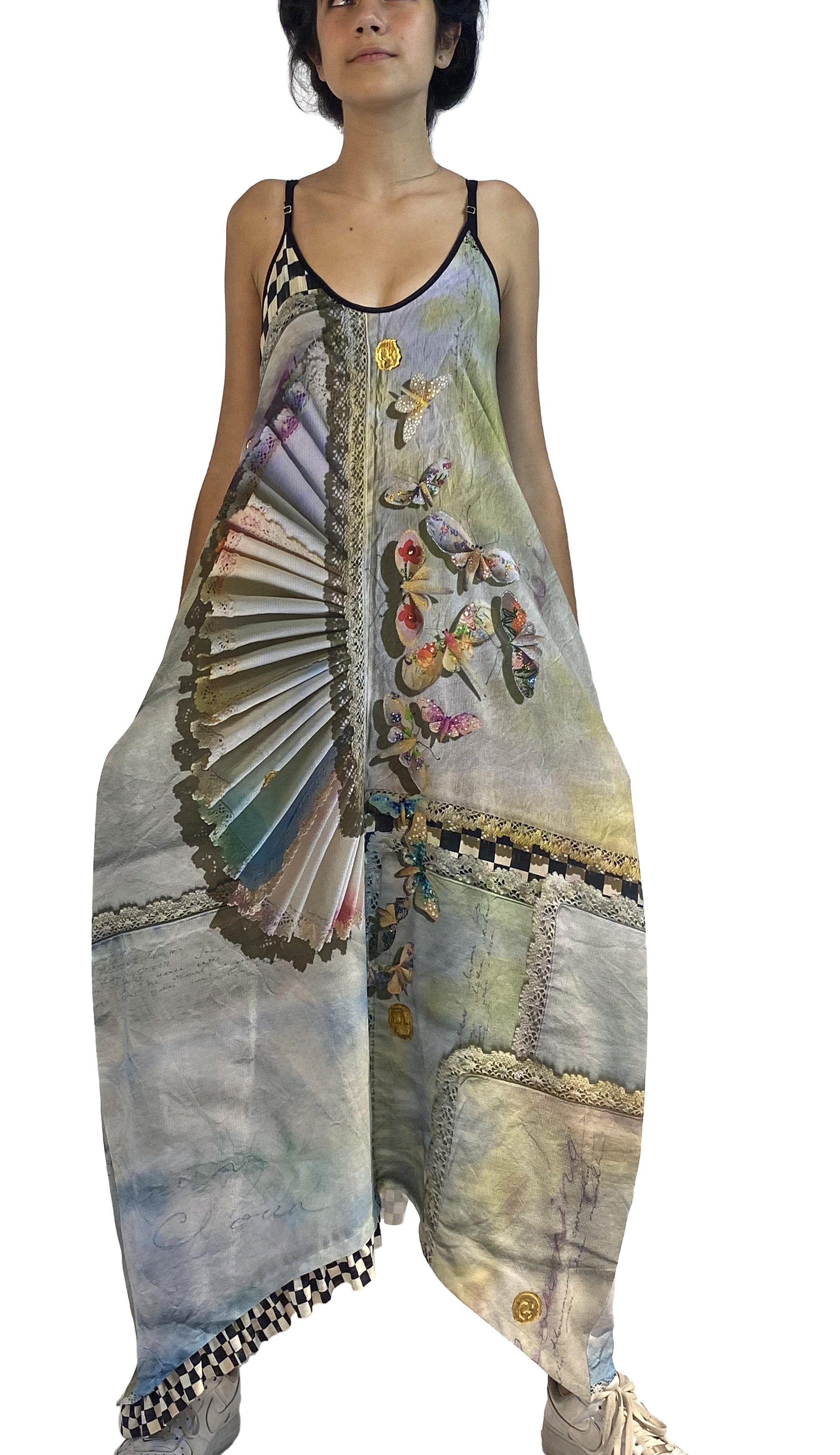 IPNG: Never Enough Color Orchid Illusion V-Cut Maxi Dress (Some Ship Immed!) IPNG_NECDVN-028