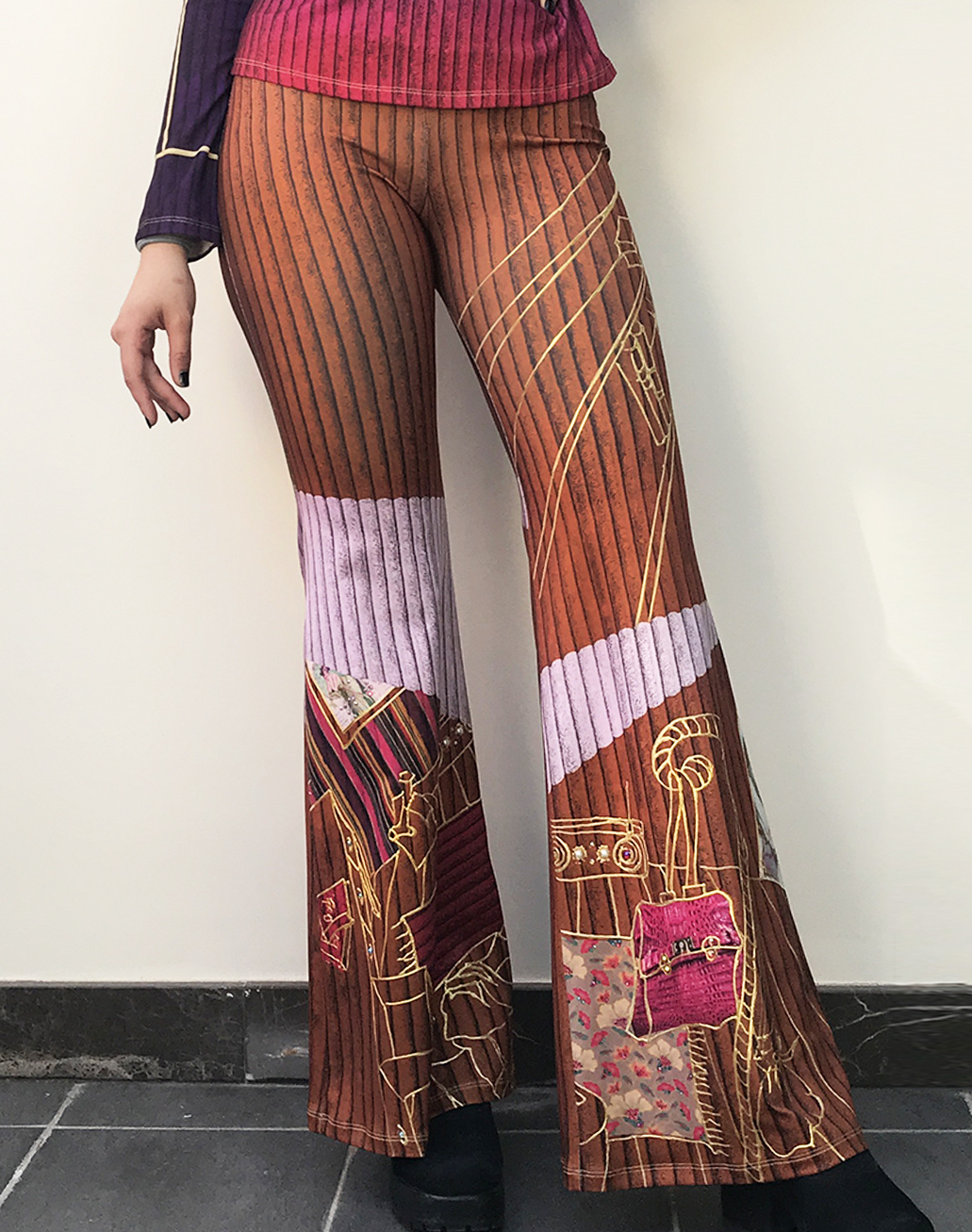 IPNG: Sliding Rooms Flared Illusion Pants (Some Ship Immed!)
