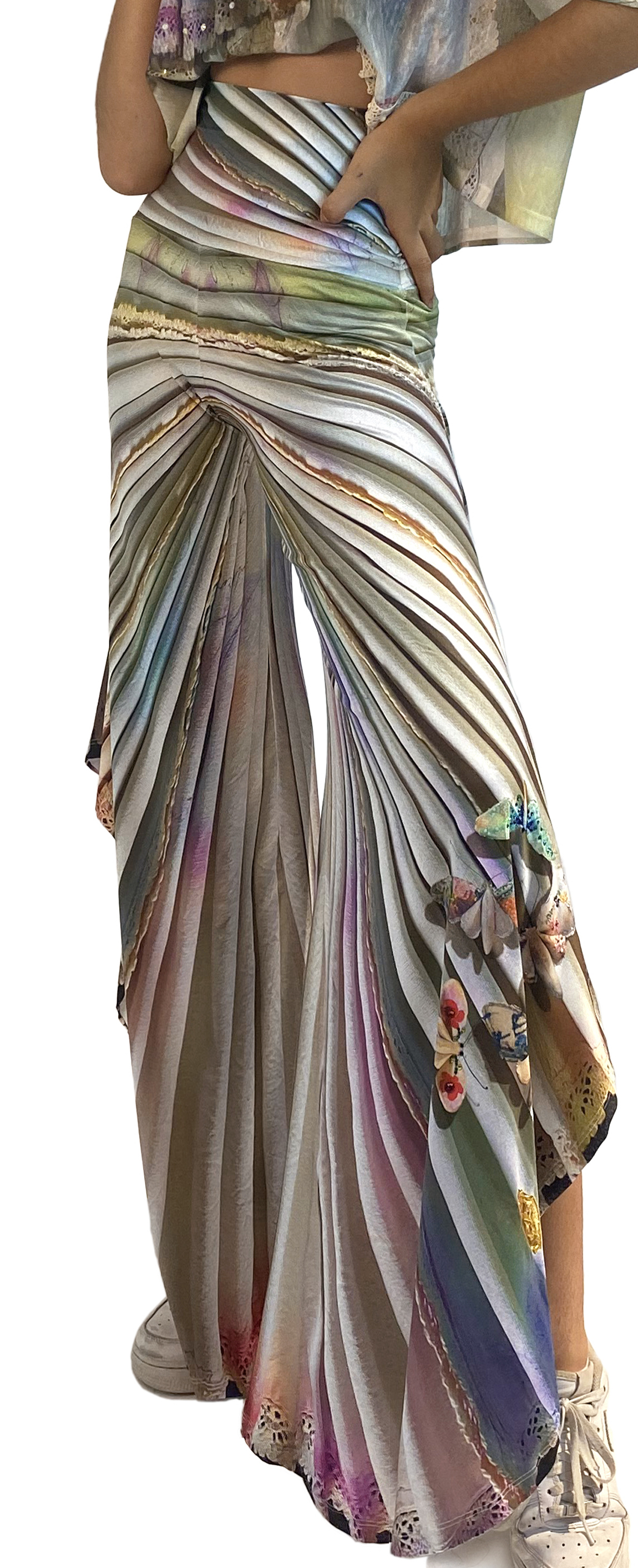 IPNG: Never Enough Color Orchid Illusion Flared Pant