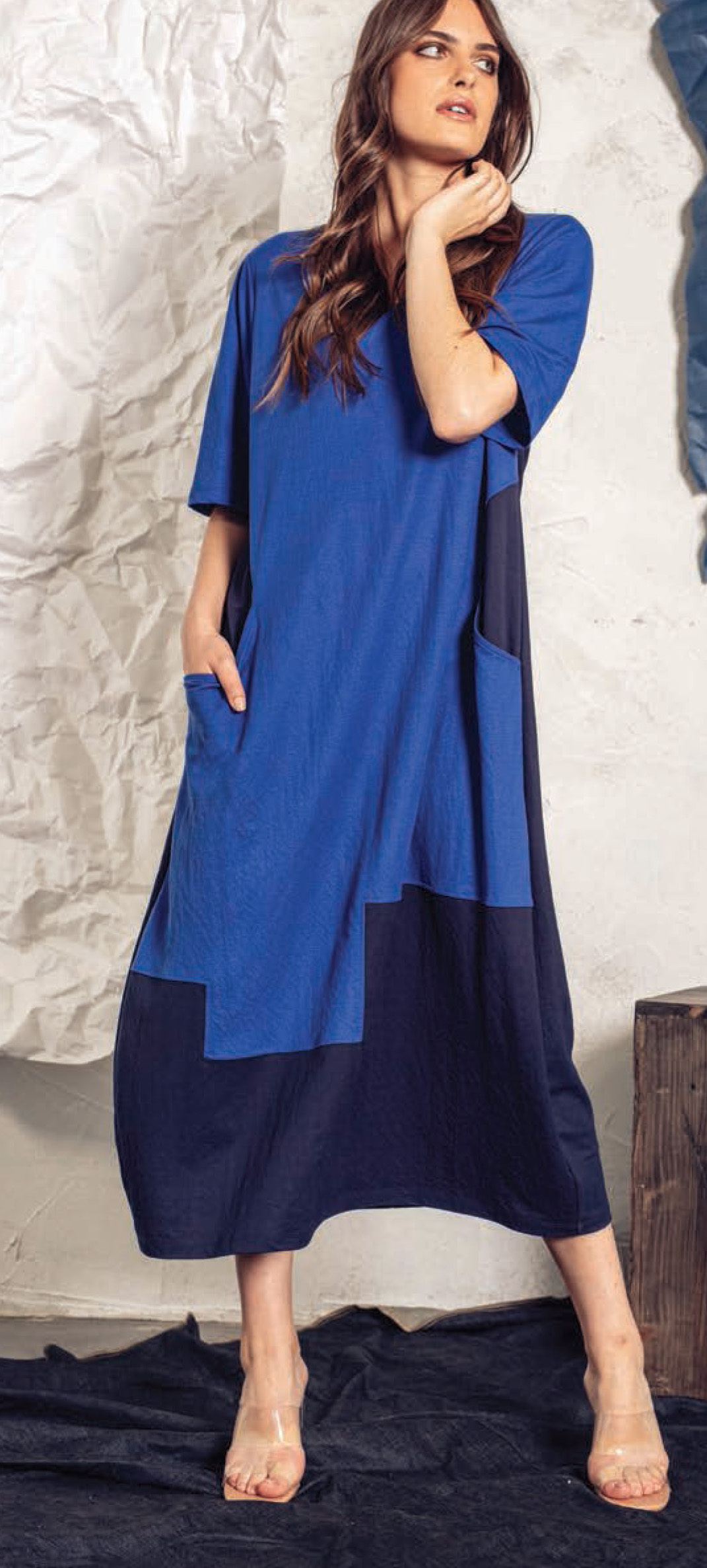 G!oze: Shades Of Blue Jigsaw Maxi Dress (2 Left!) G_FRAISIER