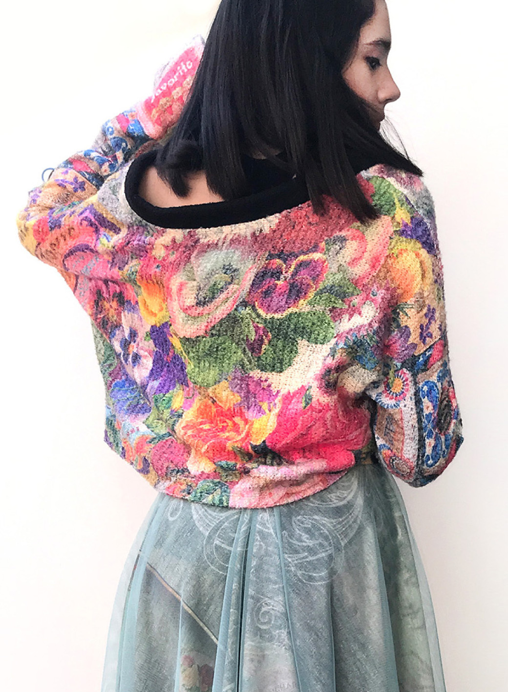 IPNG: Label Longings Pink Pansy Cupid Flared Sweater