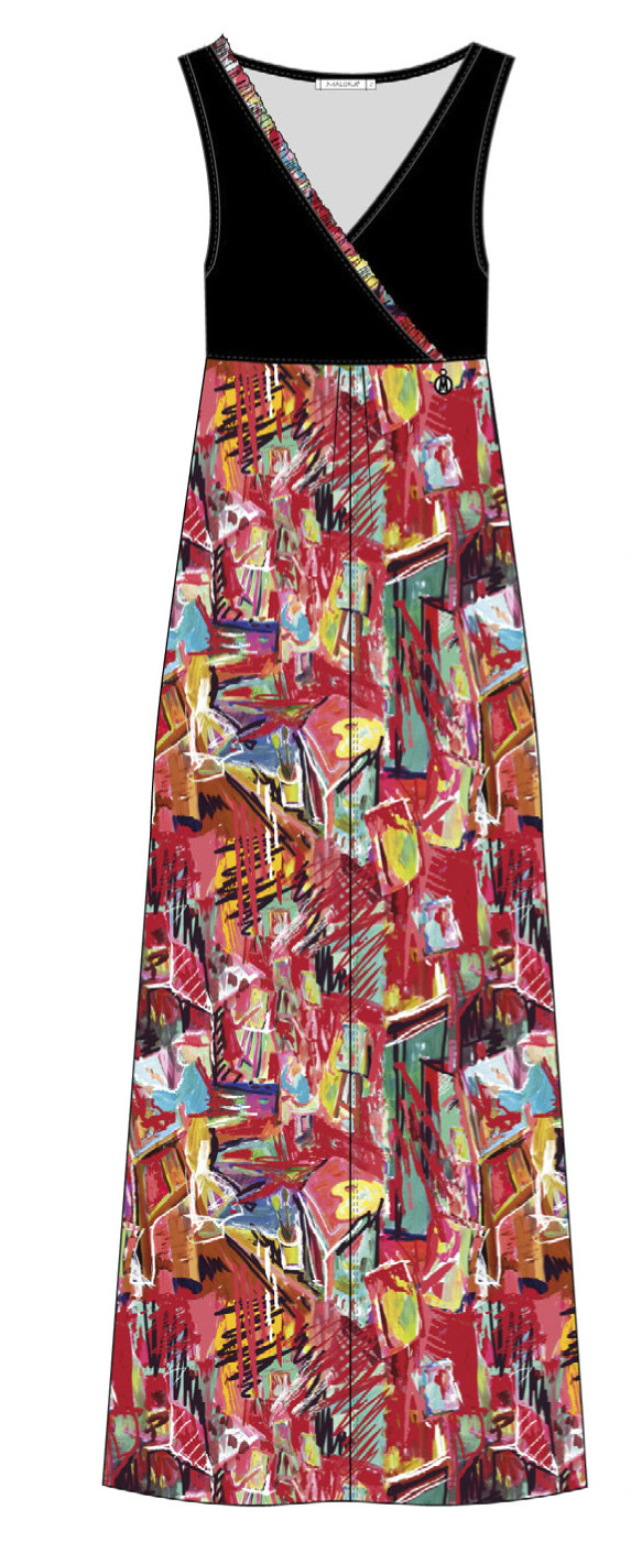 Maloka: Shimmering Colors Of MontMartre Art Maxi Dress SOLD OUT