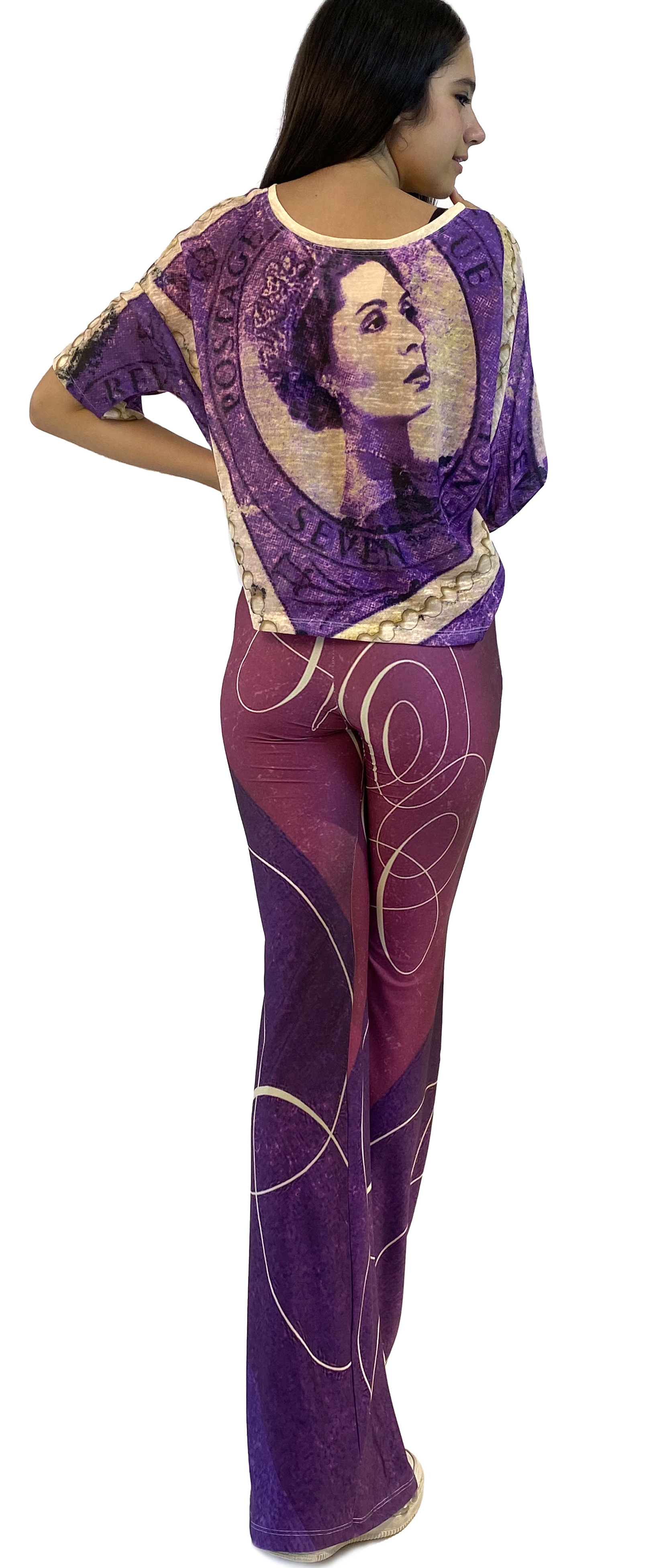 IPNG: If I Was Dancing In Paris Illusion Flared Pants (Some Ship Immed!)