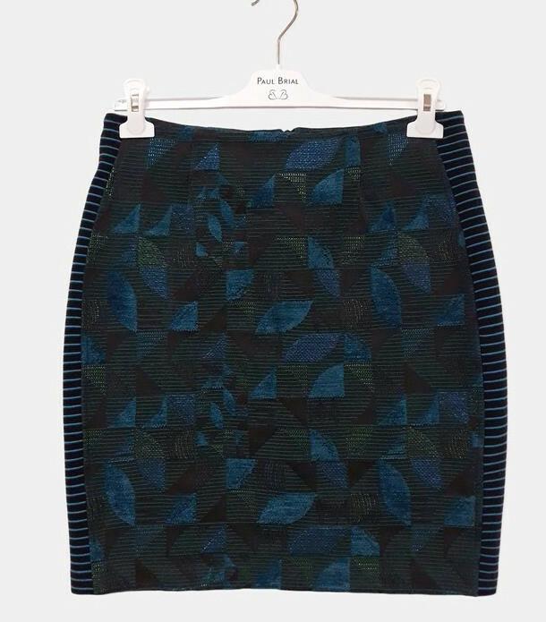 Paul Brial: Constant Contrast Jacquard Skirt PB_JADE