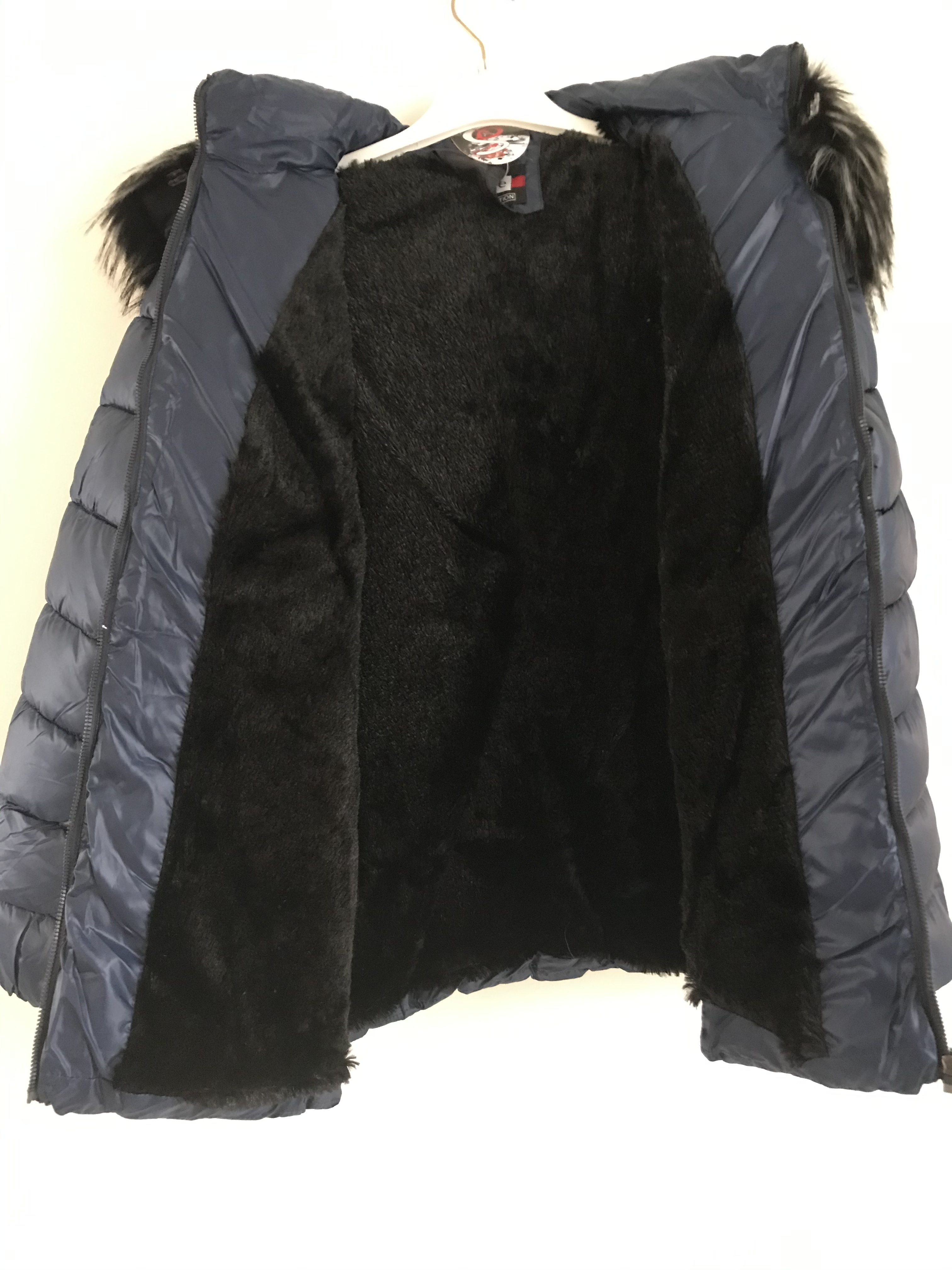 S'Quise Paris: Sleek Puffer Faux Fur Inside Coat With Removable Hood (More Colors!)