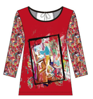 Maloka: Find The Artist Shimmering Colors Of MontMartre Back Cut Out Art Top (Few Left!) MK_NADINE