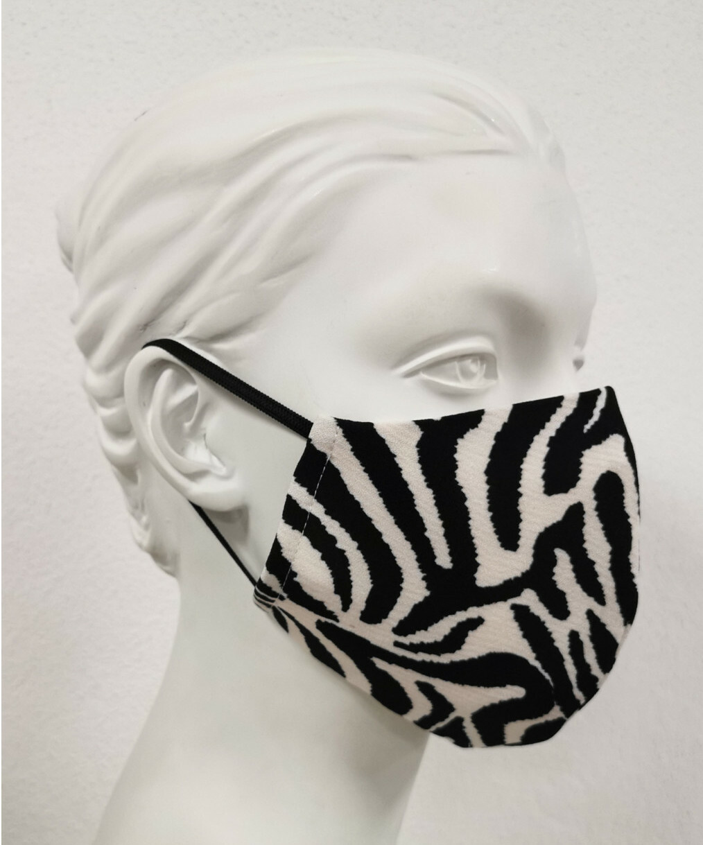 Maloka: Wild Zebra Abstract art Protective Mask (With Filter!)