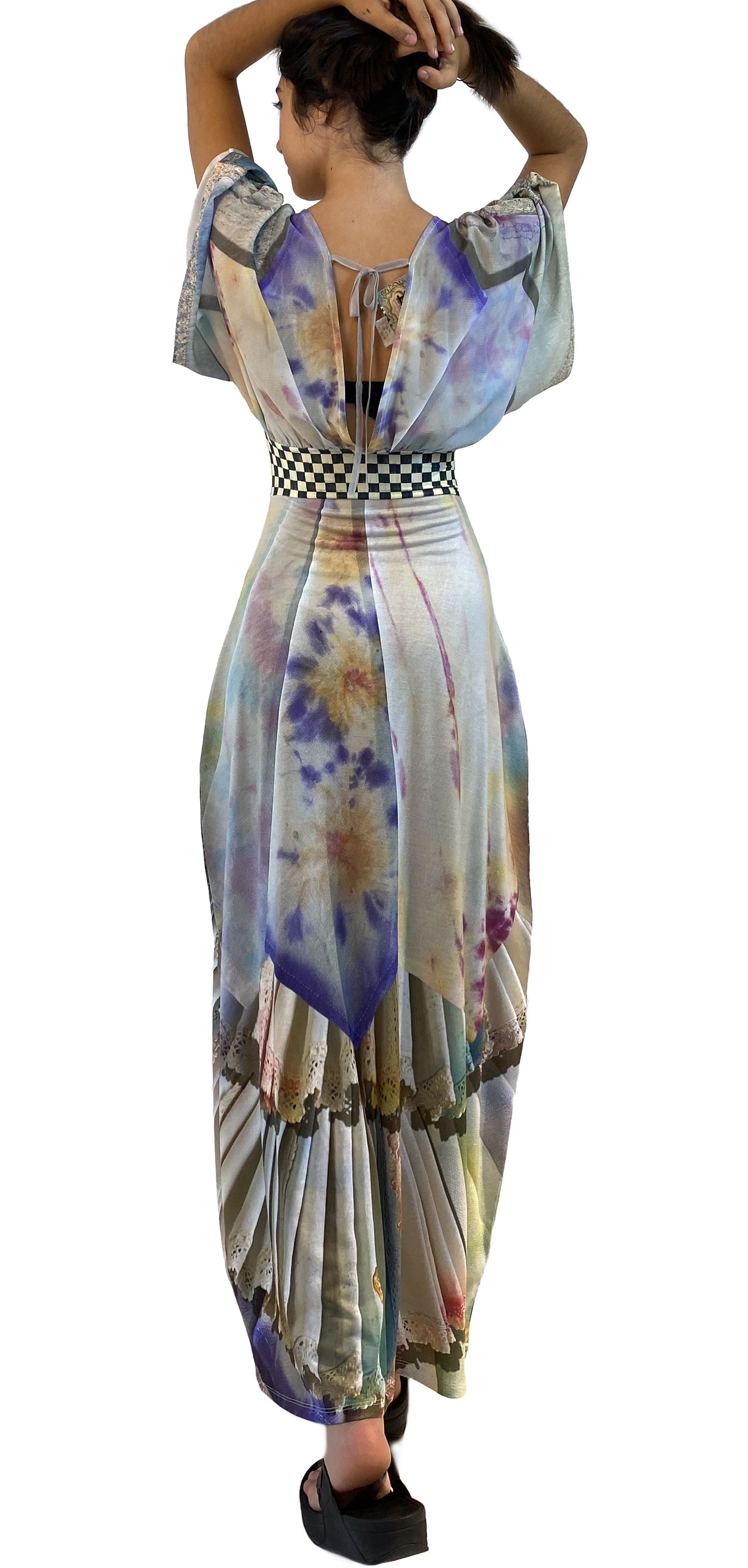 IPNG: Never Enough Color Orchid Illusion Kimono Dress (Some Ship Immed!)