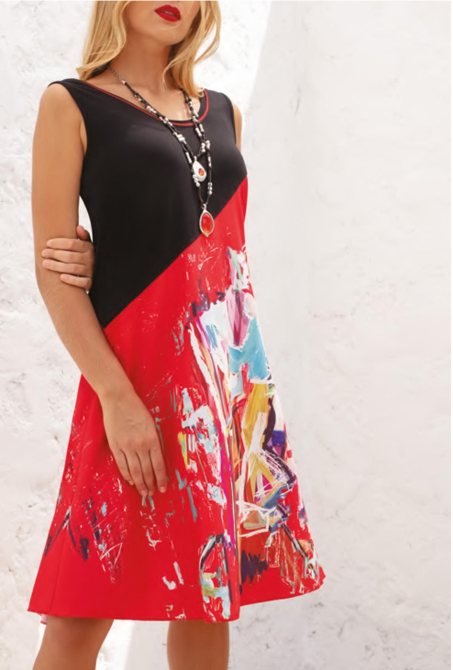 Maloka: Shimmering Colors Of MontMartre Contrast Art Dress (Few Left!) MK_NALANI