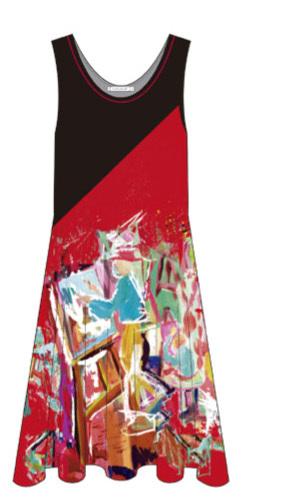 Maloka: Shimmering Colors Of MontMartre Contrast Art Dress (Few Left!)
