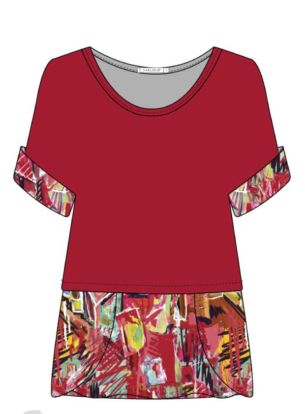 Maloka: Shimmering Colors Of MontMartre Twofer Layered Art Tunic SOLD OUT