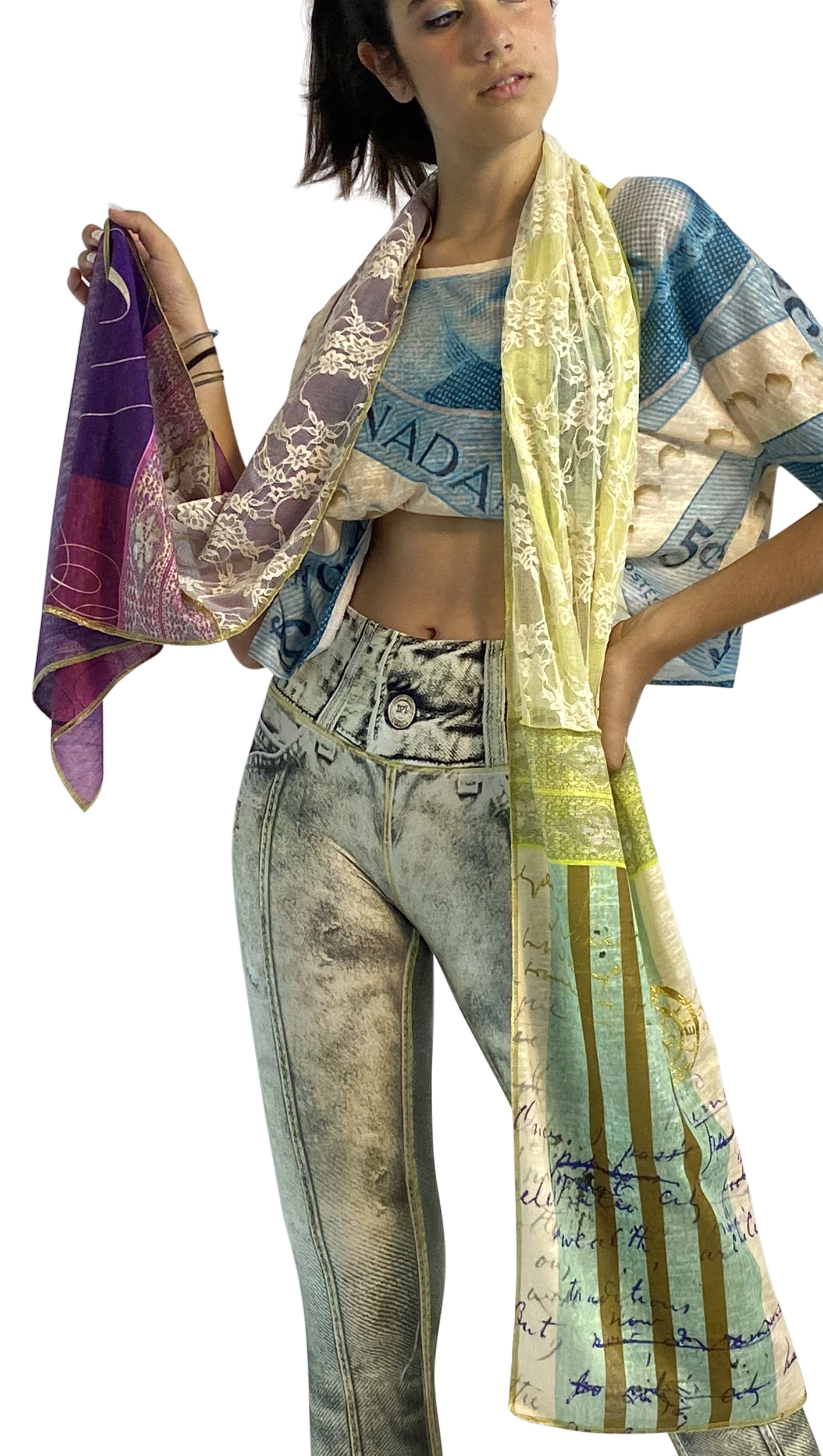 IPNG: If I Was Dancing In Paris Illusion Shawl Scarf (Ships Immed, 1 Left!)