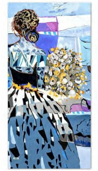 Simply Art Dolcezza: Princess Danae Abstract Art Scarf (New Spring 2021!)