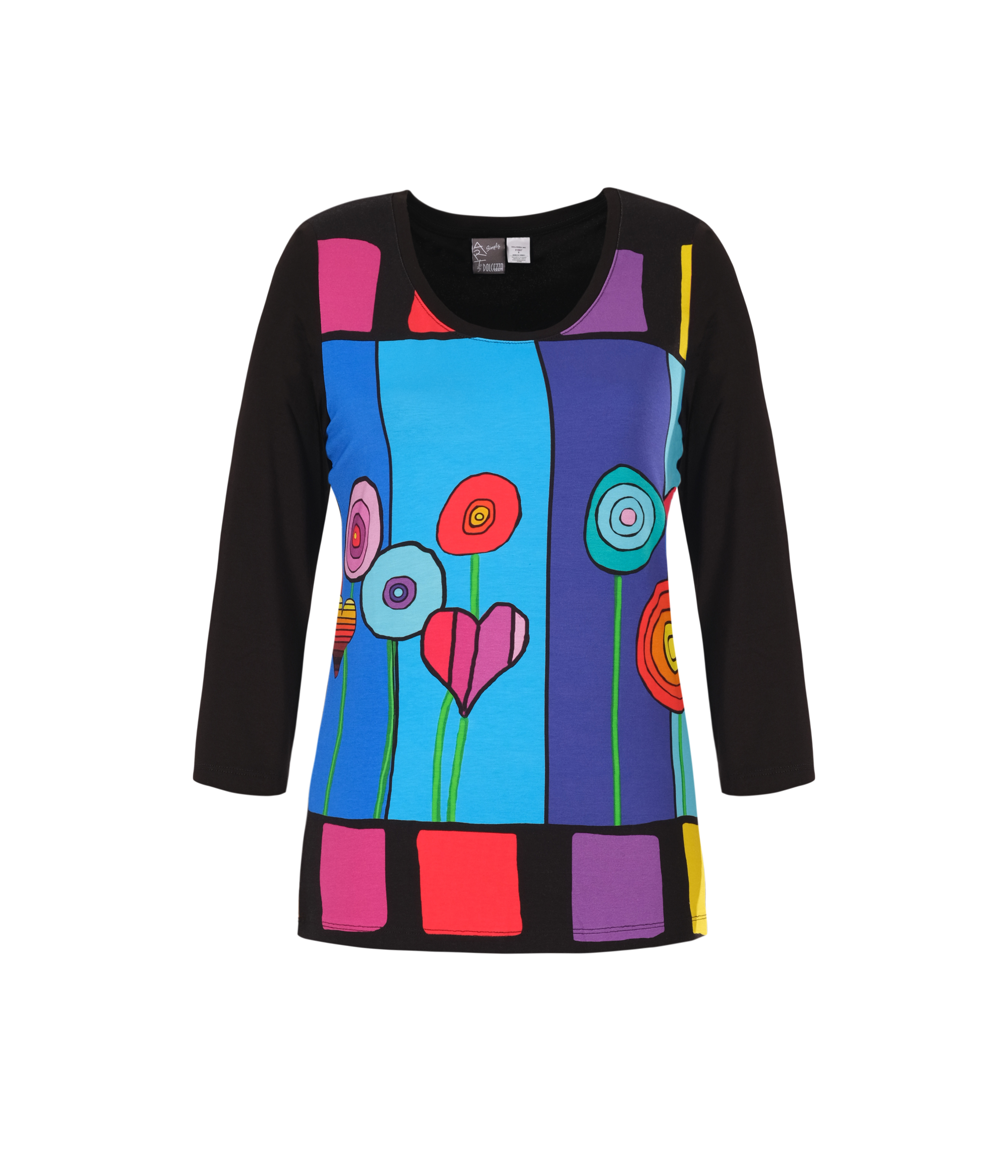 Simply Art Dolcezza: Lollipops Of Happiness Abstract Art Tunic Dolcezza_SimplyArt_21608