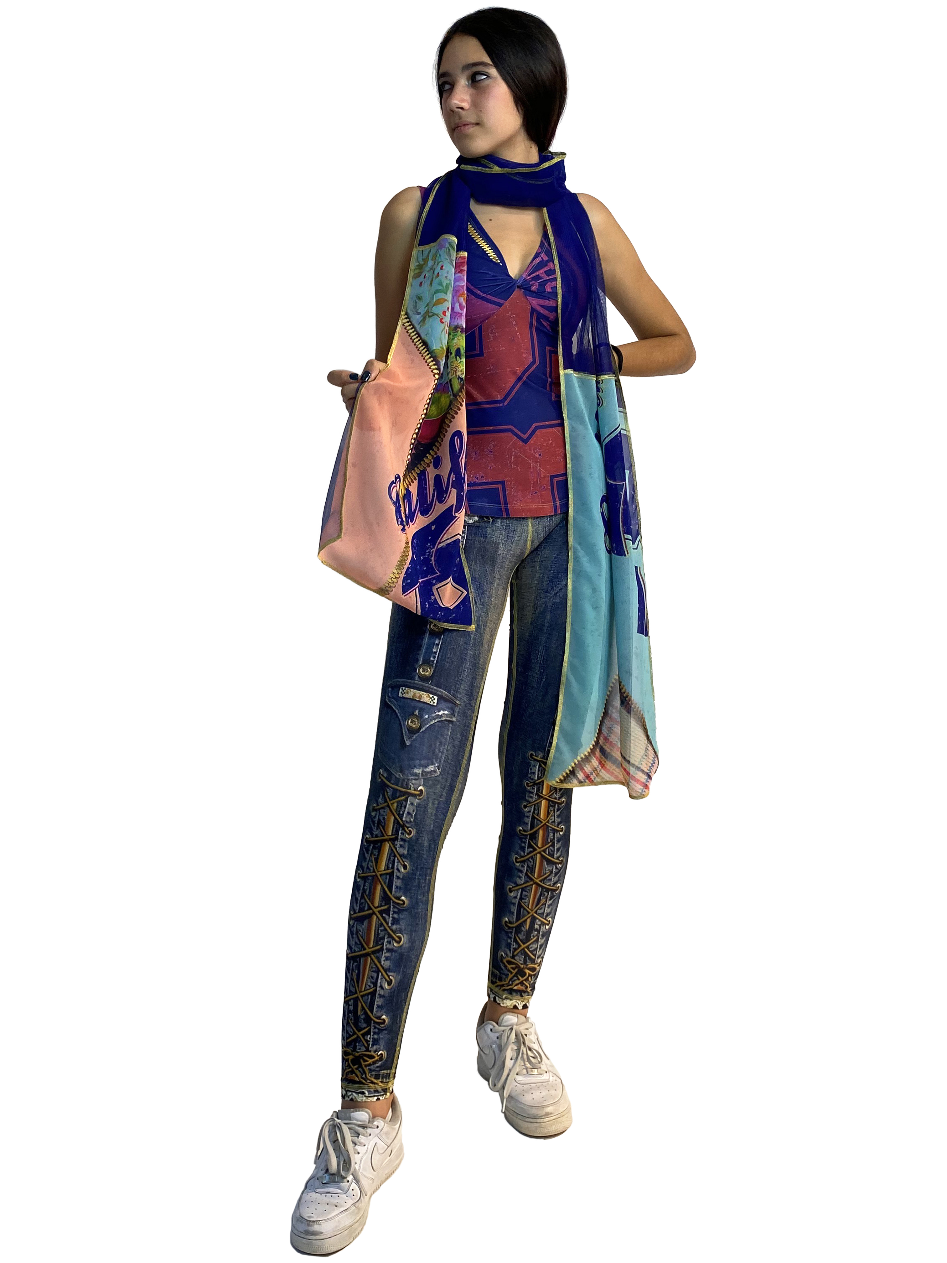 IPNG: Summer In A Flower Illusion Shawl Scarf (Ships Immed, 1 Left!) IPNG_SIFCA-068