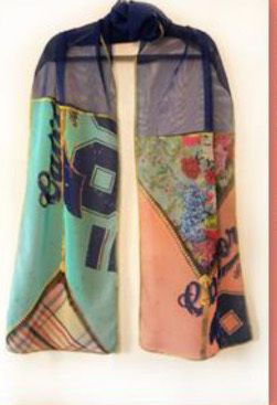 IPNG: Summer In A Flower Illusion Shawl Scarf (Ships Immed, 1 Left!)