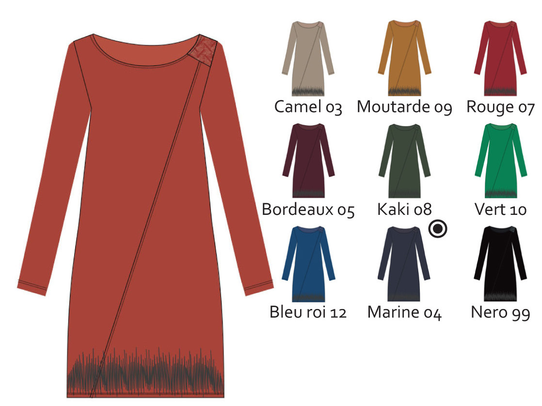 Maloka: Sexy Slant Sweater Dress