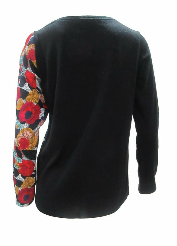 Maloka: Red Rose Scribbled Sweater