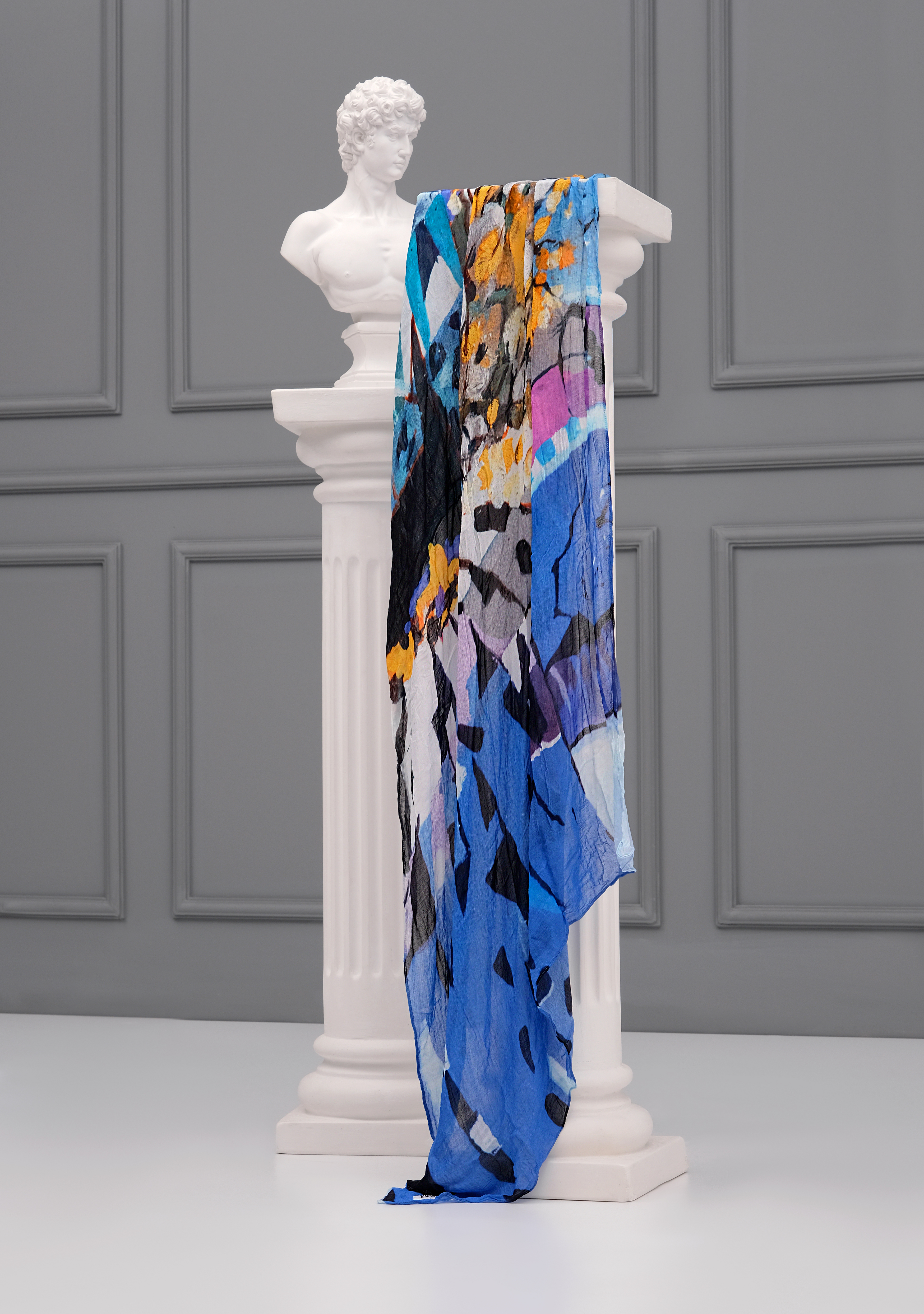 Simply Art Dolcezza: Princess Danae Abstract Art Scarf (New Spring 2021!) Dolcezza_SimplyArt_21913