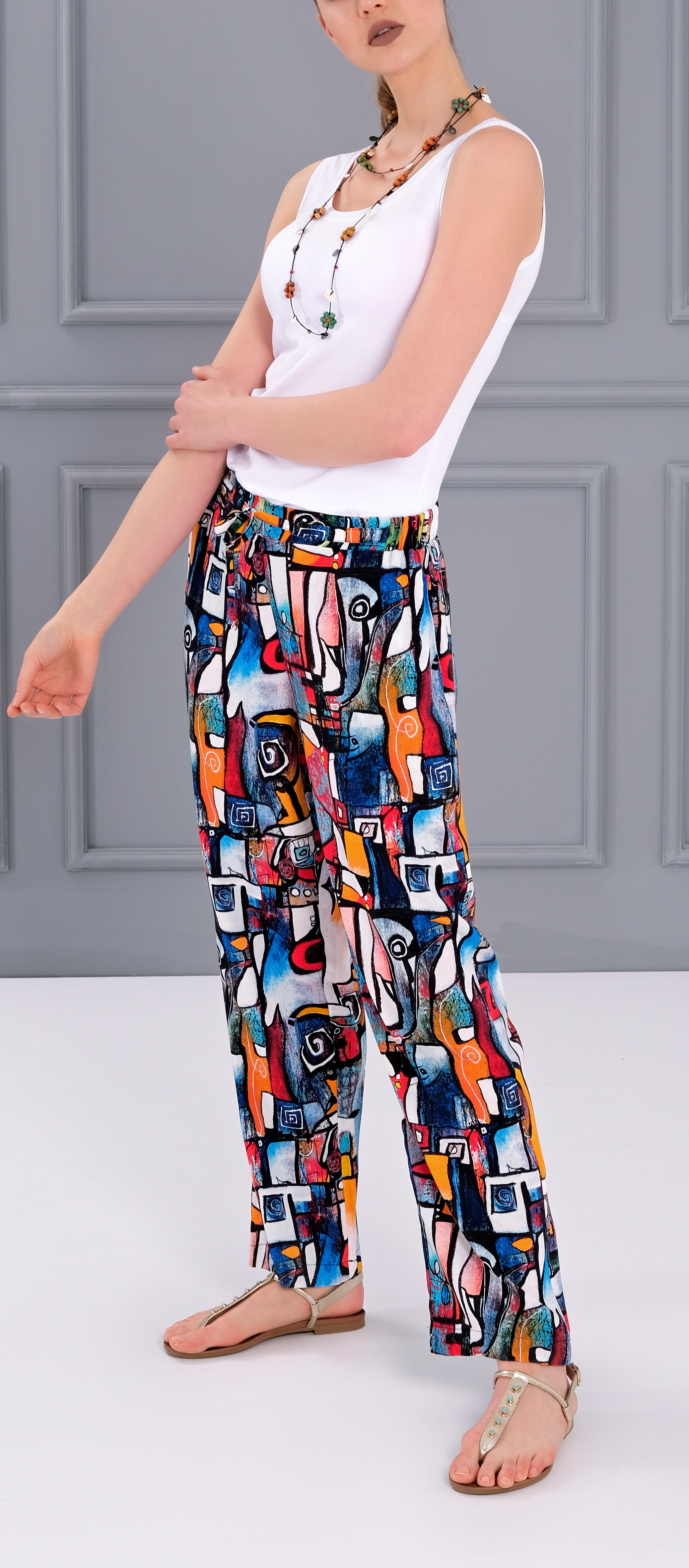 Simply Art Dolcezza: It's Complicated Comfy Abstract Art Pants Dolcezza_SimplyArt_21714