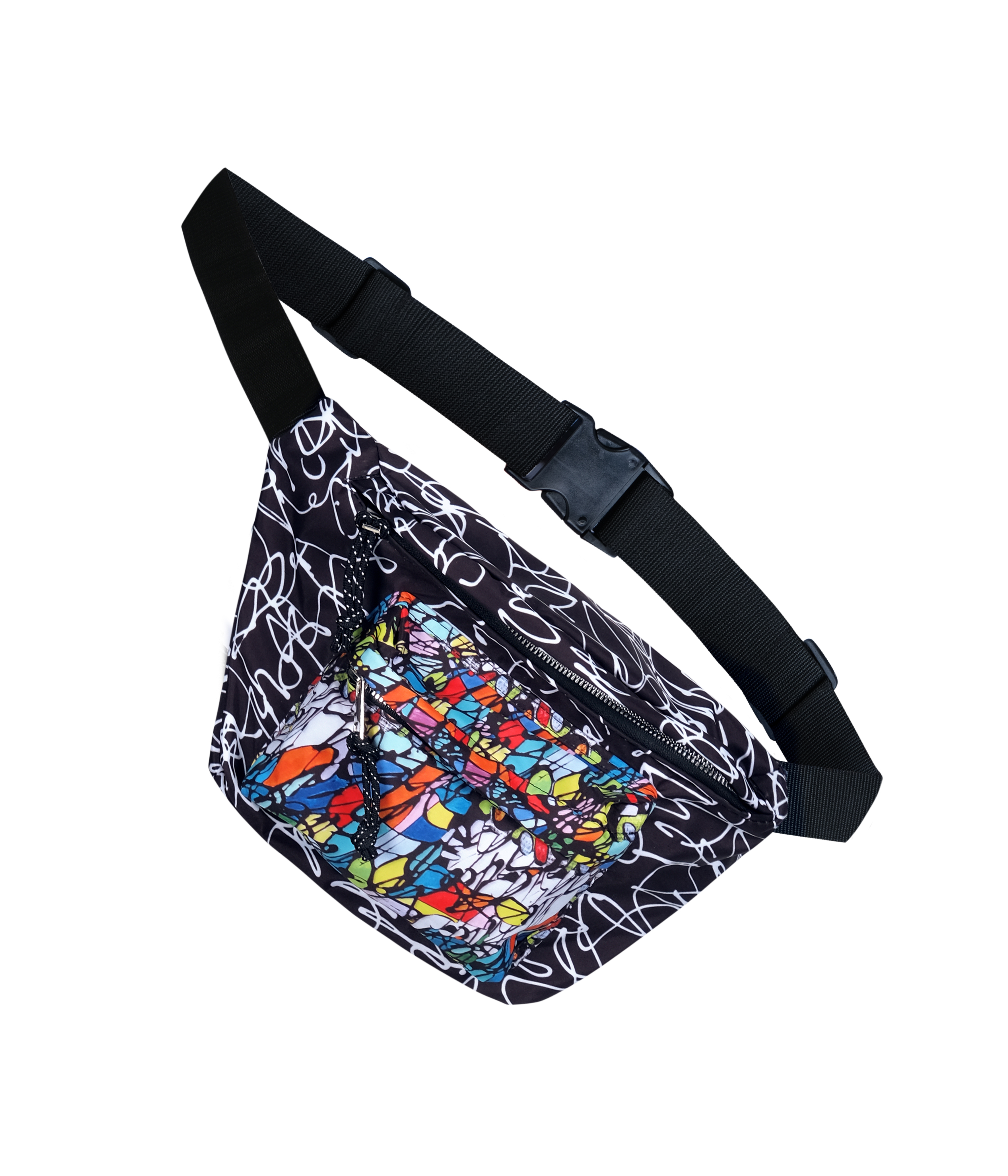 Simply Art Dolcezza: Black Board Abstract Art Belt Bag