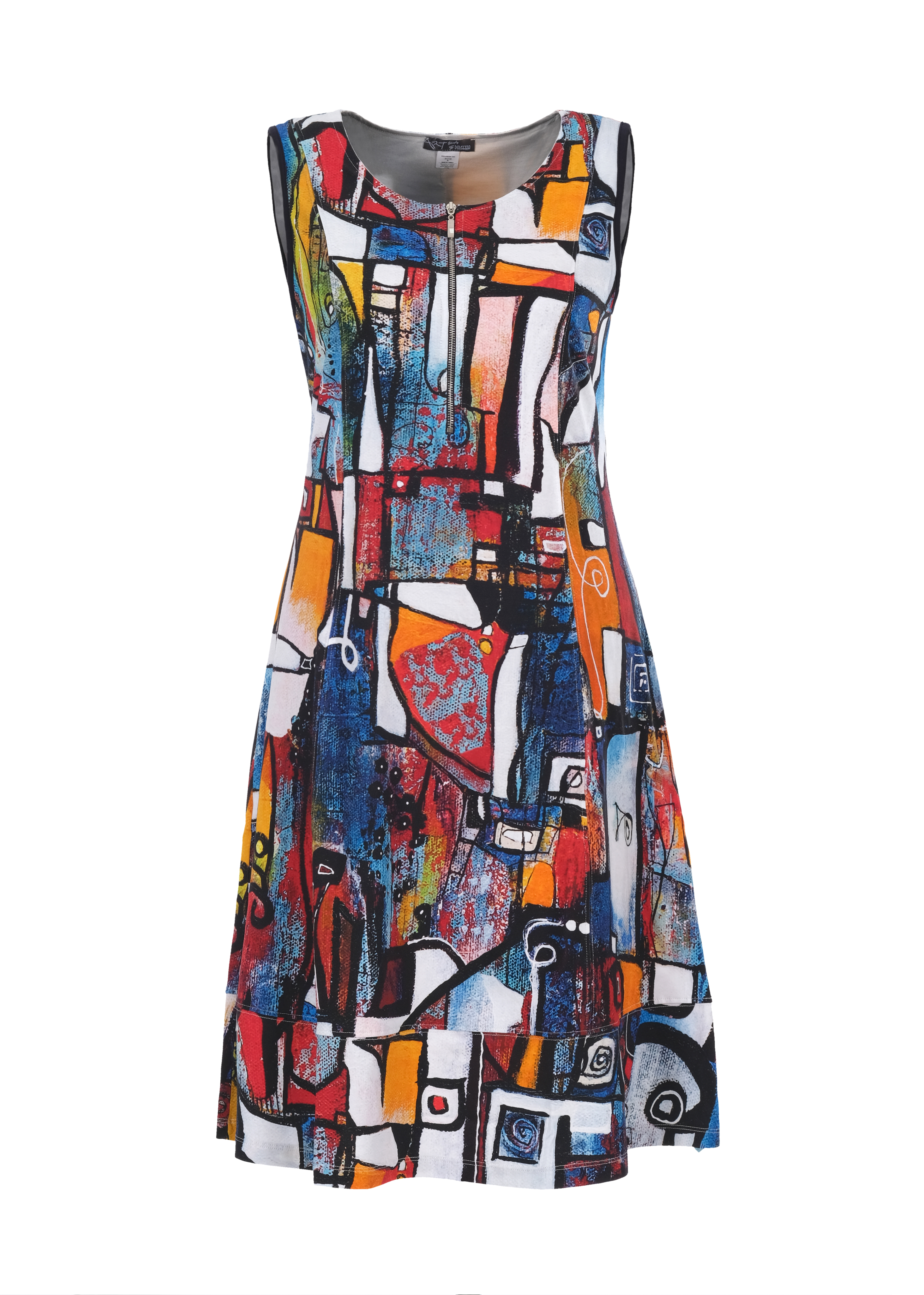 Simply Art Dolcezza: It's Complicated Crazy Cool Abstract Art Dress (1 Left!) Dolcezza_SimplyArt_21716