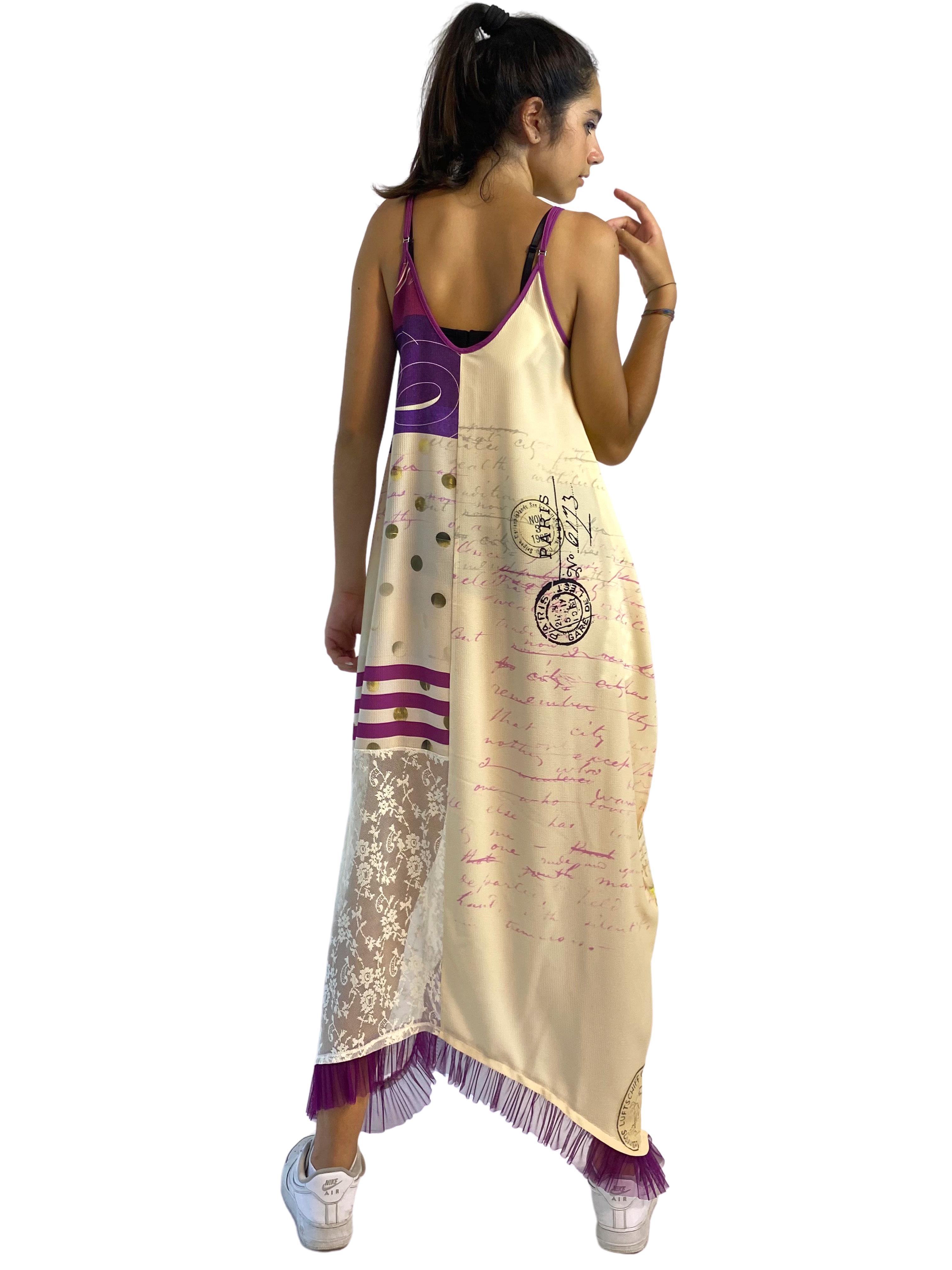 IPNG: If I Was Dancing In Paris Illusion V-Cut Maxi Dress